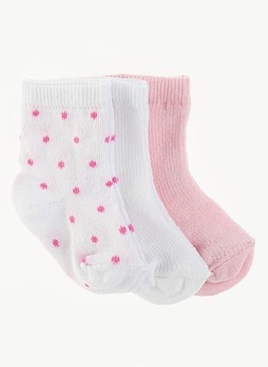 Free Clothing 3'Lü Kız Bebek Çorap Beyaz
